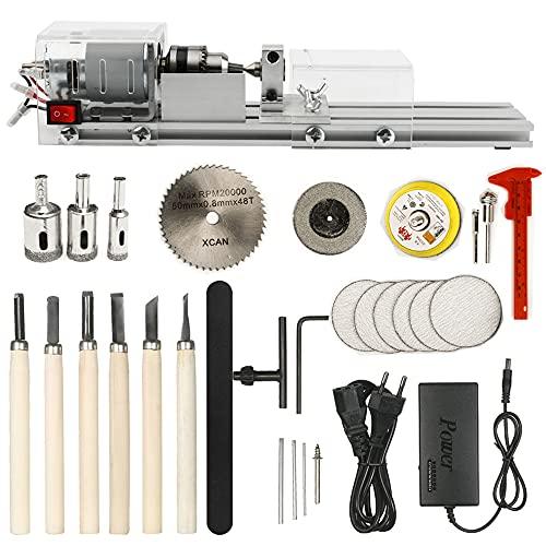 Mini torno de pulir máquina Molienda Perlas de pulido Taladro Juego de herramientas rotativas para hacer modelos Ideal para carpinteros de madera y entusiastas de la artesanía