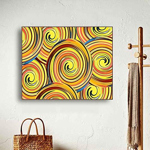 SADHAF Canvas Print abstracte spiraal Graffiti foto Wall Art woonkamer slaapkamer huis en huisdier Decor A4 60x80cm