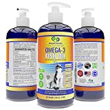 Snappies Petcare Omega 3 Fish Oil for Dogs and Cats – Wild & Pure Icelandic Liquid Fish Oil Supplement - No Odor & More EPA & DHA Than Salmon Oil for Optimal Pet Nutrition (16 Ounces)