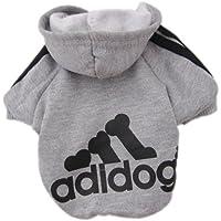 Upper Ropa Perros Pequeños Ropa de Perrito Camisas Perrito Traje Mascotas Perros Camiseta de Moda Gris S
