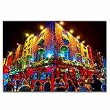 Irlanda Temple Bar Dublín Rompecabezas para Adultos, 300 Piezas, Rompecabezas de Madera para niños, Regalo de Viaje, Recuerdo, 16.5 × 12 Pulgadas