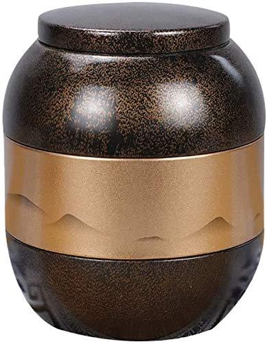 YZJL Mini Urnen Pet Urnen for Memorial Hall Pet Urnen Asche Metall versiegelte Jar Katze und Hund Kleintiere Souvenirs Urnen (Color : Red2)