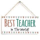 Meijiafei Best Teacher in The World! - Adorable Little Sign Teacher Present 10'x5'