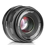 Meike 35mm F1.4 Large Aperture Fixed Manual Focus APS-C Camera Lens for Olympus EM1 EM5 EM10 EP5 EPL3 EPL5 EPL6 EPL7 Pen-F Panasonic Lumix GM1 GM2 GX1 GX2 GX7 GX8 GF5 GF6 GF7 GH3 GH4 & M4/3 Mount