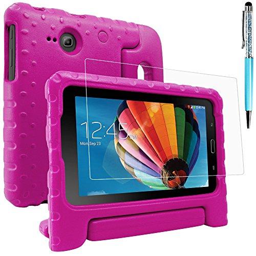 AFUNTA - Custodia protettiva per Samsung Galaxy Tab E Lite 7.0 con protezione schermo e pennino, custodia convertibile in EVA, custodia in plastica PET e penna touch per tablet da 7