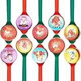 Juego de Cucharas y Bolas de Rebotador de 40 Piezas Juego de Carrera de Relevos de Cuchara Bola de Rebote de Navidad Juego Divertido de Carrera de Huevos y Cucharas para Navidad Actividades de Aula