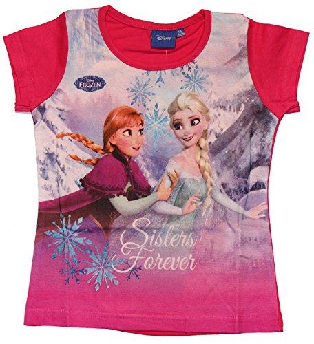 Frozen - Die Eiskönigin Disney Mädchen T-Shirt (128, Pink)