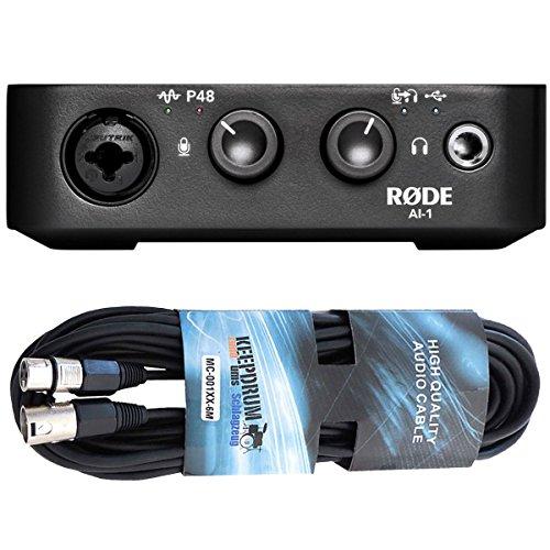 Rode AI-1 USB Audio-Interface + keepdrum XLR Kabel 6m