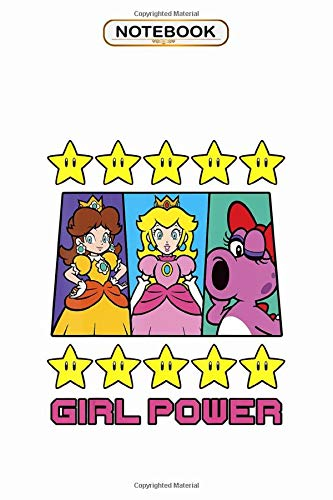 Notebook: Super Mario Daisy Peach Birdo Girl Power Poster , Wide ruled 100 Pages Bank Lined Paperback Journal/ Composition Notebook
