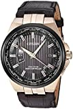Men's Citizen Eco-Drive World Perpetual A-T Brown Leather Watch CB0168-08E