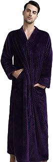 Yijinstyle Mens Womens Dressing Gown Winter Warm Bathrobe Long Fluffy Nightwear Housecoat Hotel Sleepwear