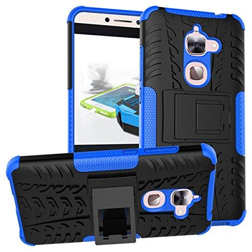 SCIMIN LeEco Le 2 Hülle, LeEco Le 2 Pro Hülle, zweilagiger Schutz, stoßfest, Hybrid-Schutzhülle, harte Schale mit Ständer, für LeEco Le 2, LeEco Le 2 Pro (Marineblau)