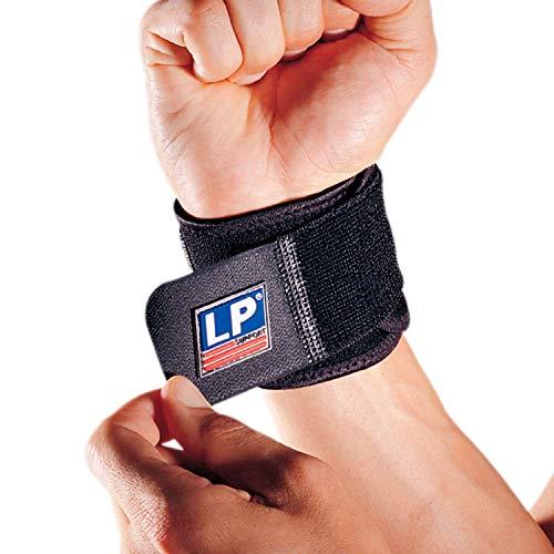 LP Support 753CA Handgelenkgurt - Handgelenkbandage aus der Extreme Serie - Wrist-Wrap - Sportbandage, Größe:Universal - 1 Paar, Farbe:schwarz