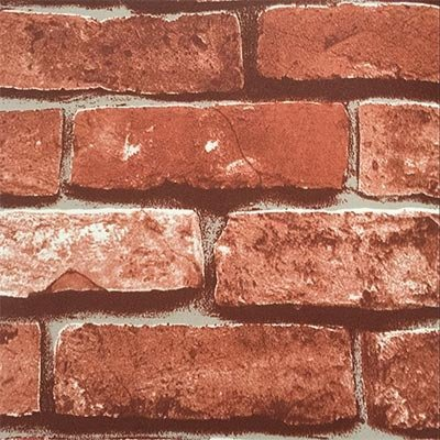 Retro Vintage Faux Brick Wallpaper For Home Bar Wall Decoration Wall Paper-Red