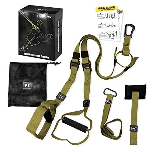 LAPONO Suspension Trainer Kit Fitness Trainer con Bande di Resistenza Cinghie per Allenamento Fitness da Palestra Professionale per Allenamento in Palestra Domestica