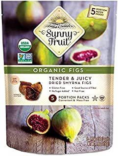 Sunny Fruit Organic Figs, 250g, (Pack of 5)
