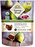 ORGANIC Turkish Dried Figs - Sunny Fruit - (5) 1.76oz Portion Packs per Bag | Purely Figs - NO Added Sugars, Sulfurs or Preservatives | NON-GMO, VEGAN, HALAL & KOSHER