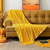 MIULEE Manta Blanket Franela para Sófas Mantas de Terciopelo Diseño Granulado para Siesta Suave Grande Cálida para...