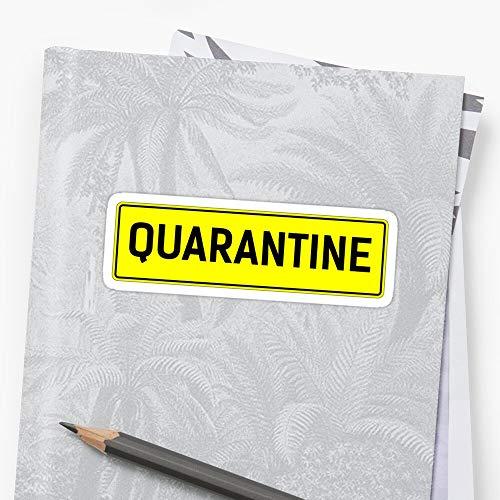 quarantine. quarantine gift. quarantine design. quarantine illustration Sticker Stickers (3 Pcs/Pack) Perfect for Water Bottle,Laptop,Phone, Extra Durable Vinyl Decal