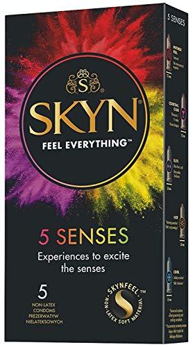 SKYN 5 Senses, preservativos sin látex, paquete de 5 condones (1)