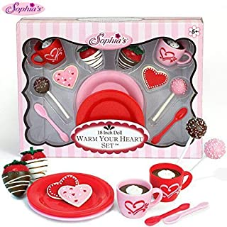 Sophia's 18 Inch Warm Your Heart Doll Accessories Food Play Set Perfect for The American Baking Girl! Includes Hot Cocoa, ...