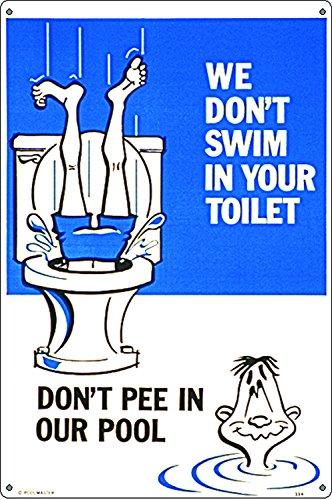 Poolmaster 41384 Rules for Public Spa Schild für kommerzielle Pools, Oregon-konform Nicht in unseren Pool urinieren (Don't Pee In Our Pool) 12