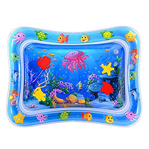 Bomoya Inflatable Tummy Play Mat,Perfect Sensory Water Cushion Toys,Baby Tummy Time Baby Water Playmats for 3,6,9 Months Newborn