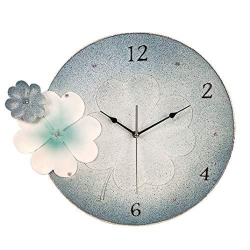 Vierblättriges Kleeblattmuster Kreative dekorative Wanduhr, Wohnzimmeruhr Art Deco Uhr, Umweltfreundliches Harz Dekorative Kunstuhr, Silent Quarz-Uhr