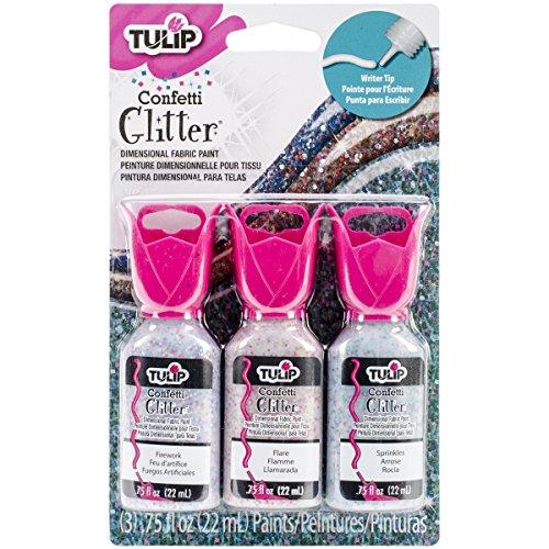 Tulip 32440 Pintura de Tela con Purpurina 3D
