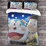 Doraemon Nobita Nobi - Juego de ropa de cama 3D para niños (220 x 240 cm)