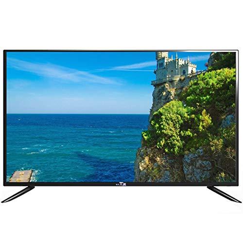 Televisor LED HD de 40 pulgadas, Android TV compatible con VGA, USB, AV, DVI, HDMI, interfaz RF, televisor LCD doméstico con altavoces estéreo de dos canales y función de reducción de ruido de image
