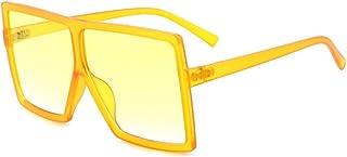 JCX - Gafas de sol de montura cuadrada para hombre y mujer