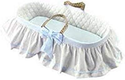 Baby Doll Bedding Regal Moses Basket, Blue