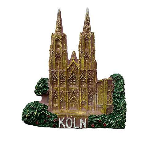 Imán para nevera con diseño de la Catedral de Alemania de Colonia en 3D, regalo de recuerdo turístico y colección para el hogar y la cocina, decoración magnética