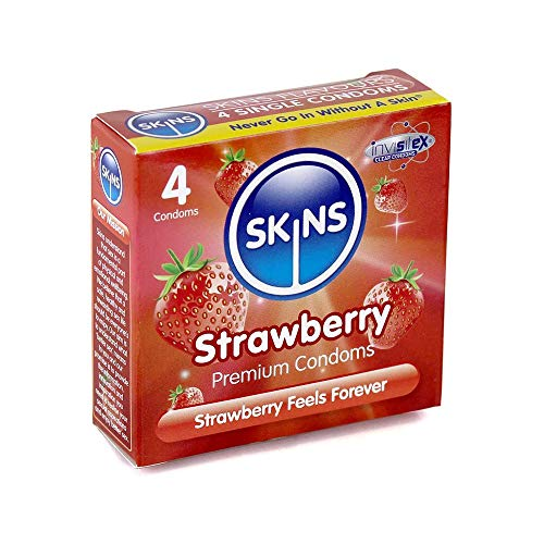 Skins Strawberry Flavoured Premium Kondome - 4er Pack
