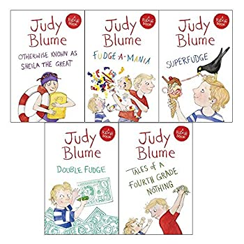 A BOX of FUDGE - JUDY BLUME [Scholastic Paperback Box Set of 5]  Fudge Series