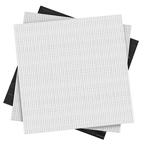 Huayue 3 Pezzi Tappetino Isolante per Letto Riscaldato, Cotone di Isolamento Termico per Creality CR-10S/ CR-10/ Ender 3/ Anet E12/ Anet A8 Stampante 3D- Nero (300x300x10mm)
