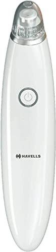Havells SC5060 Pore Cleanser Blackhead Whitehead Remover 3 Suction Modes Low Medium High Fast Charge White