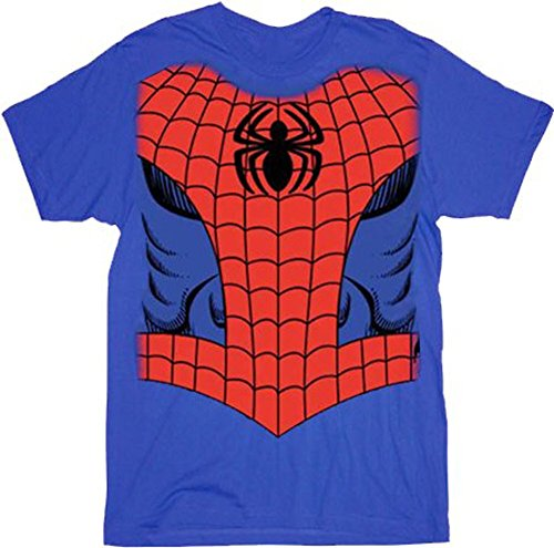 Spiderman Maravillas Comics Rojo/Azul Disfraz–Camiseta