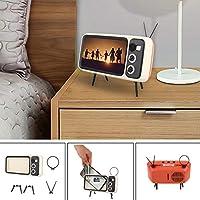 ポータブルレトロなミニテレビのデザインの携帯電話ホルダーユニバーサル携帯電話ホルダーベースブラケット創造的なデザインのアクセサリースタンド 電話ホルダー (Color : Beige)