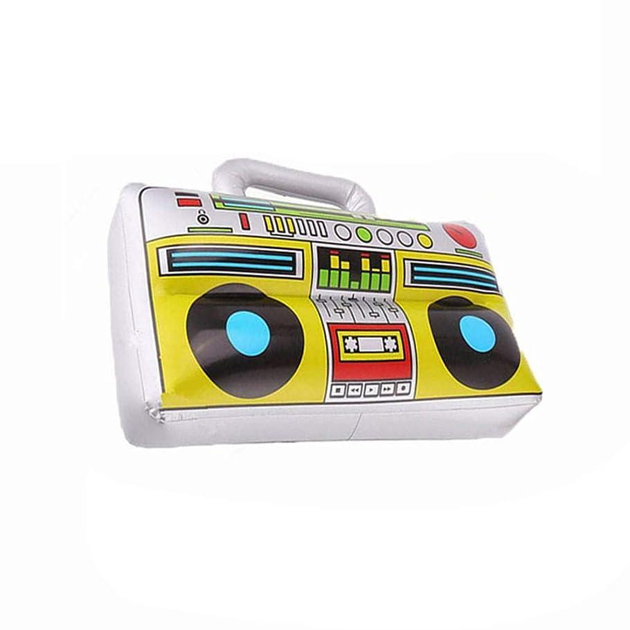 人差し指ホームレスほとんどないカーテンポリ塩化ビニールの膨脹可能な音楽おもちゃのラジオの段階の小道具シミュレーションの器械42 * 28CMSNOWVIRTUOS