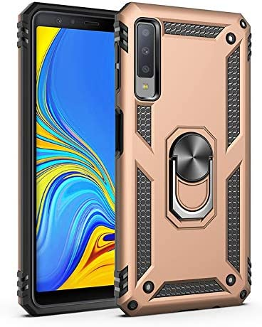 Korecase 7 Plus iPhone Case, iPhone 8 Plus Case Screen Camera Protection Extreme Military Armor Dual Layer Protective Ring Kickstand Gold