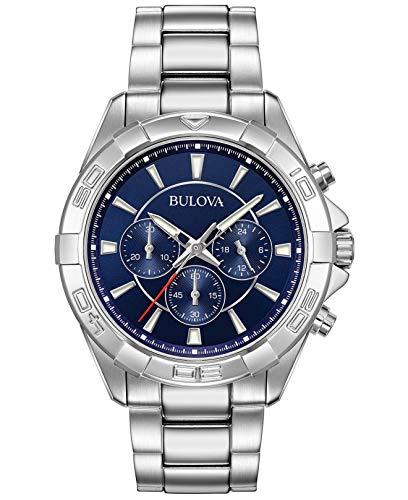 Bulova Reloj Cronógrafo para Hombre de Cuarzo con Correa en Acero Inoxidable 96A215