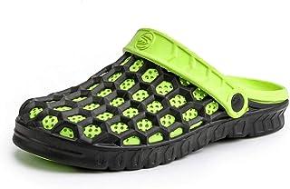 Mens Clogs Lightweight Garden Sandals Slip On Beach Slippers