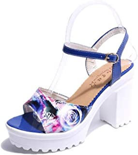 lcky Non-Slip Platform high Heels Women's Thick with Sandals Casual Shoes