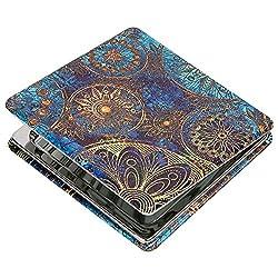 Shidan Metall Tragbarer Taschenspiegel Zweiseitiger Klappbarer Kosmetikspiegel für unterwegs mit 1X / 3X Vergrößerungsspiegel