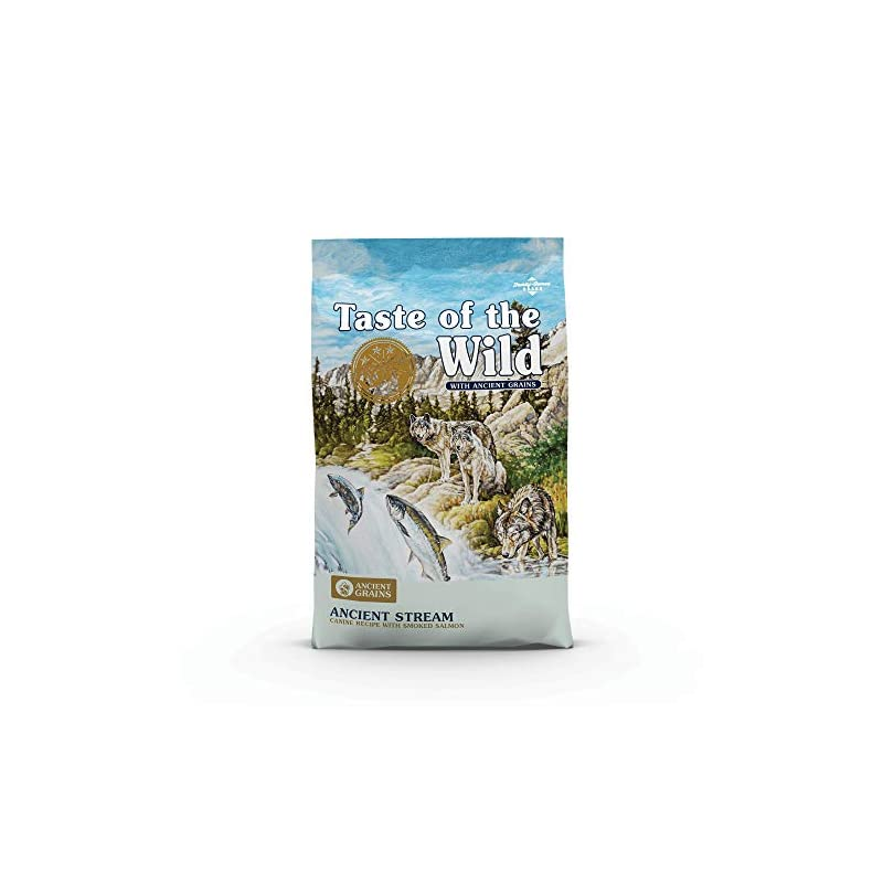 dog supplies online taste of the wild with ancient grains ancient stream canine recipe with smoked salmon dry dog food for all life stages 28lb