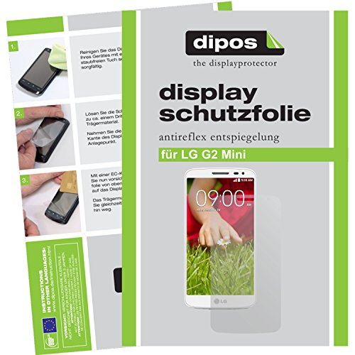 dipos I 2X Schutzfolie matt kompatibel mit LG G2 Mini Folie Bildschirmschutzfolie