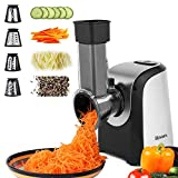 Salad Shooter Electric Slicer Shredder Greater Electric Cheese Grater Salad Maker Machine Carrot Slicer with 4 Stainless Steel Rotary Blades, One-Touch Control