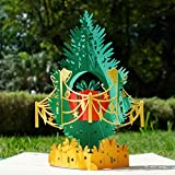 CUTPOPUP Pop Up Christmas Cards, 3d Christmas Card Tree For Family, Friends, Kids, Children- Perfect Details, Hand Assembled- Ideal Gift On Christmas, Birthday, Thanksgiving, New Year